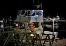 Natt för San Diego hamnar royaltyfri foto