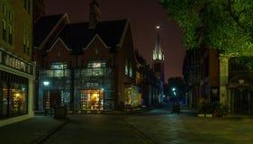 Natt för Shanghai Themsenstad Arkivbild