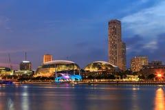 Natt för Singapore marinafjärd Arkivbild