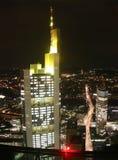 natt för stadsfrankfurt tysk Arkivbild