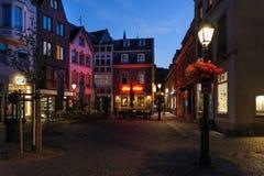 Natt i Aachen Royaltyfri Foto