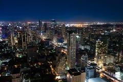 Natt i Bangkok Arkivbilder
