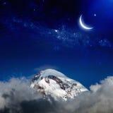 Natt i berg Royaltyfria Foton