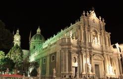 Natt i Catania royaltyfria bilder