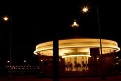 Natt i Genova Italien royaltyfria bilder