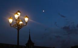 Natt i Madrid Royaltyfri Fotografi