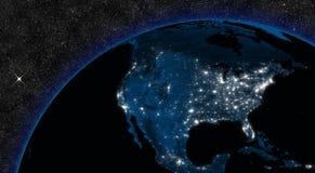 Natt i Nordamerika vektor illustrationer