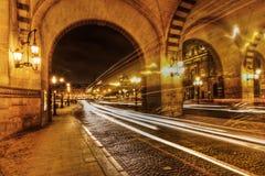 Natt i Paris Arkivfoto