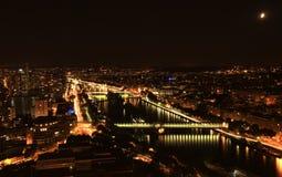 Natt i Paris Arkivbilder
