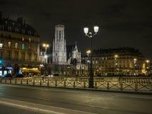 Natt i Paris Royaltyfria Foton