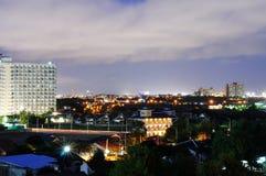 Natt i Pattaya Arkivbild