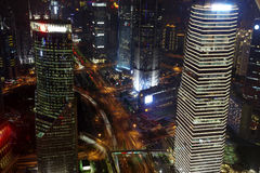 Natt i shanghai royaltyfri bild
