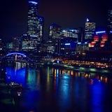 Natt i stad Arkivfoton