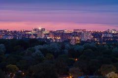Natt i staden Royaltyfria Foton