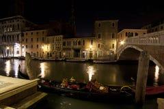 Natt i Venedig Arkivfoto