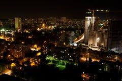 Natt Kiev. royaltyfri bild
