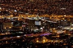 Natt Lights-2 för El Paso-Juarez Arkivfoto
