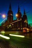 Natt Lviv arkivfoton