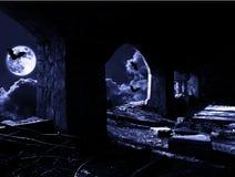 Natt med slagträn stock illustrationer