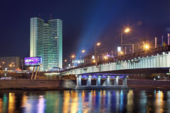 Natt Moscow Royaltyfri Foto