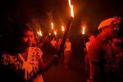 Natt Nyepi - nytt år för Balinese Royaltyfria Foton