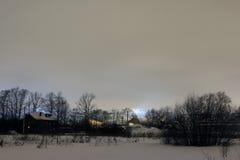 Natt och de ljusa ljusen Royaltyfria Foton
