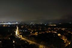 Natt och de ljusa ljusen Royaltyfri Bild