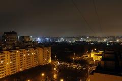 Natt och de ljusa ljusen Royaltyfria Bilder