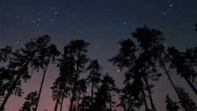 Natt- och gryningtimelapse lager videofilmer