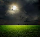 Natt och månen arkivbild