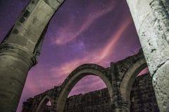 Natt på Ayios Sozomenos, Nicosia arkivbilder