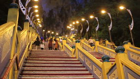 natt på batugrottor, Kuala Lumpur, Malaysia stock video