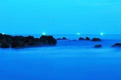 Natt på havet Royaltyfri Foto