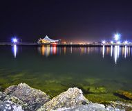 Natt på Jakarta Arkivbild