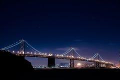 Natt på San Francisco Arkivbilder