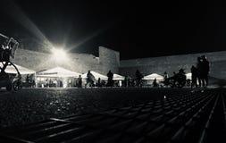 Natt på staden royaltyfria foton
