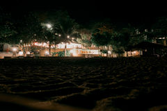 Natt på Thailand Arkivbilder