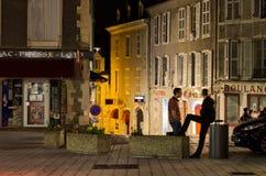 Natt på townen arkivbilder