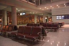 Natt på vardagsrummet för internationell flygplats, Peking, Kina Arkivfoton