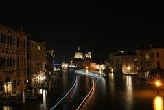 Natt på Venedig Arkivbild