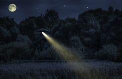 Natt på watchtoweren Fotografering för Bildbyråer
