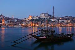 natt porto Arkivbilder