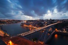 Natt Porto Arkivfoton