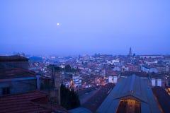 Natt Porto Portugal Fotografering för Bildbyråer