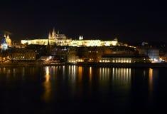 natt prague Fotografering för Bildbyråer