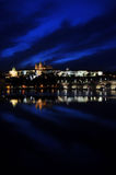 natt prague s Royaltyfri Foto