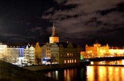 Natt Praha Royaltyfri Foto