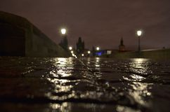 Natt Praha Royaltyfri Fotografi