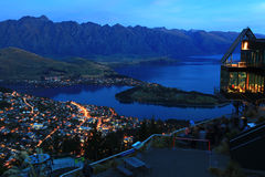 natt queenstown Royaltyfria Bilder