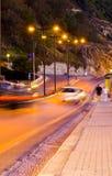 natt rhodes Royaltyfri Fotografi